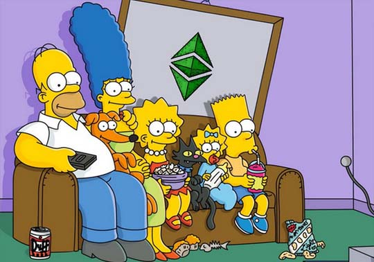 event image:Fragment of an episode of the Simpsons series.